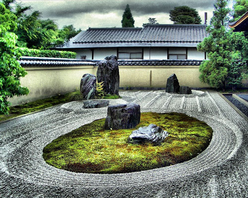 Lovely Screensaver Of Zen Gardens Around The World. Ambient And Traditional.